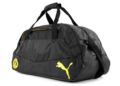 Puma BVB Rendimiento Medio, bolso deportivo - Negro / Amarillo cibernético Black/Cyber Yellow
