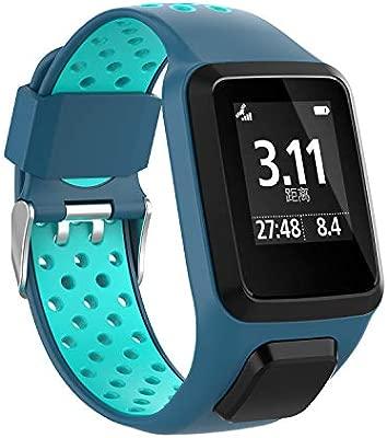 Cobar Watchband for Tomtom Runner 2, Silicona Blanda Multi-Agujeros Respirable Correa de Reloj reemplazo para Tomtom Runner 2/ Runner 3/ Golfer 2 ...