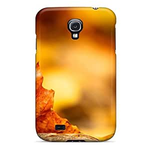 Tpu Phone Case Shockproof Scratcheproof Nature Plants Dry Maple Leaf Hard Case Cover For Galaxy S4