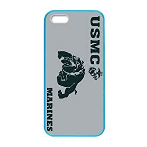 Generic Customized Special Design USMC (United States Marine Crops) Department of the Navy Plastic and TPU Four Color DeepSkyBlue Violet Darkorange Palegodenrod Case Cover for iPhone5 iPhone5S