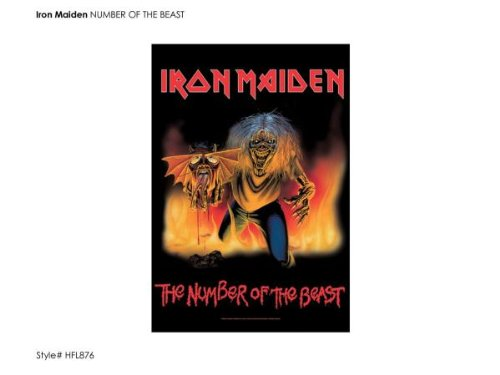 Iron Maiden The Number Of The Beast Cover new Official Textile Poster 75cm x 110cm