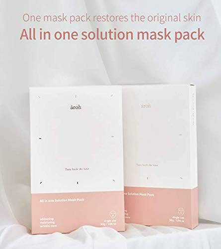 AROH All-In-One Solution Mask Pack 5 Sheets , Anti-Aging, Br