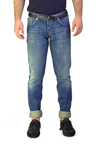 Fit Denim Jeans Pants Light Blue (Prada Denim)