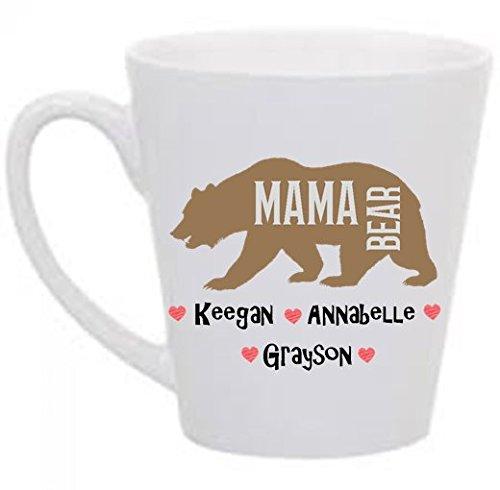 Mama Bear Personalized 12 oz. Latte Mug