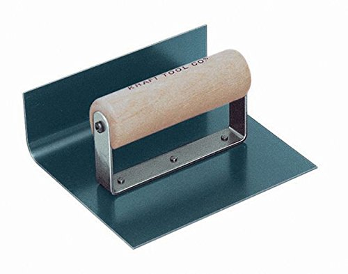 Kraft Tool CF516 1-Inch Radius Inside Blue Crucible Steel Cove Step Tool, 6 x 6 x 3-Inch