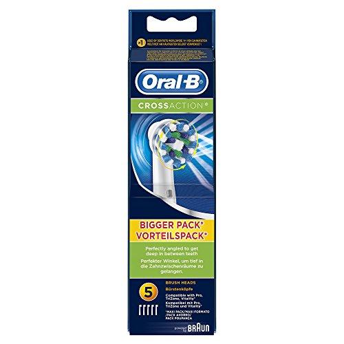 Oral-B CrossAction Aufsteckbürsten (für elektrische Zahnbürsten), 5 Stück