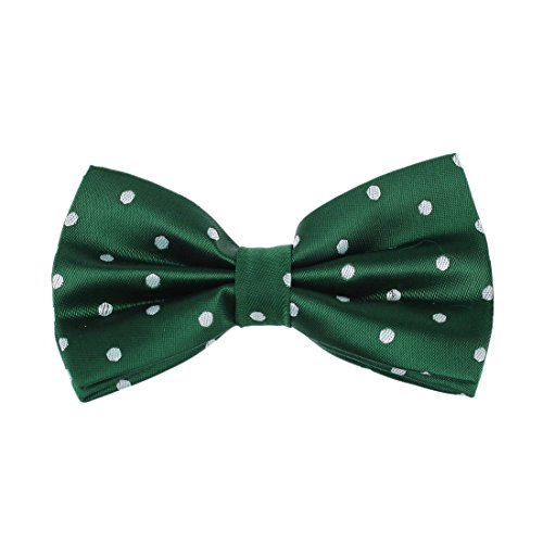Dan Smith DBD3D01R Dark Green Polka Dots Microfiber Shopstyle Gift Pre-tied Bow Tie