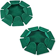 HOW TRUE 2 PCS All-Direction Golf Putting Cup Golf Practice Hole Cup Surface Flocking for Office Indoor Outdoo