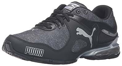 PUMA Women's Cell Riaze Heather Cross-Trainer Shoe, Black/Steel Gray, 6 M US