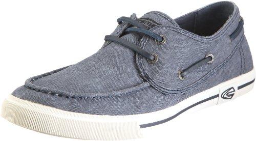 camel active Harbour 13 295.13.01 - Zapatos de lino para hombre Azul (Blau/Denim)