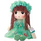 Iainstars Cute Girls Model Plush Stuffed Dolls Wedding Lovely Rag Doll Kids Birthday Gift (38cm Green