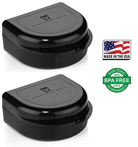 2 Pack- Snap Lock Retainer Case; Stealth Black