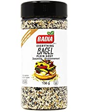 Badia Spices | Everything Bagel Seasoning | Healthy & Delicious Spice | Flavourful Toppings | Sesame Seeds, Poppy Seeds, Onion & Garlic | Gluten Free | 156g