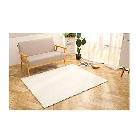 Estera espuma costura cuadrada, alfombra gruesa de felpa ...