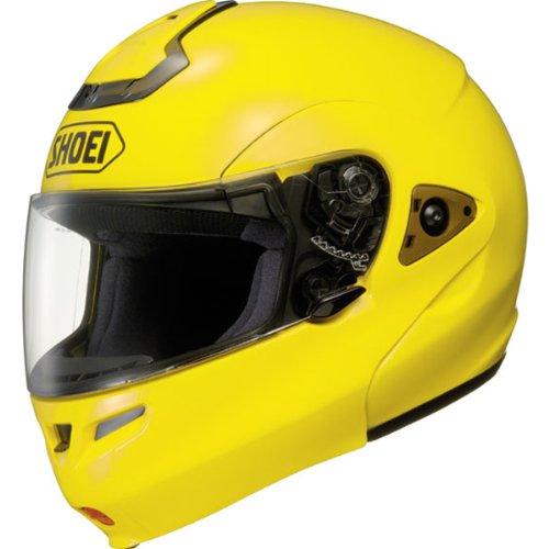 (Shoei Metallic Multitec Street Racing Motorcycle Helmet - Brilliant Yellow/Medium)