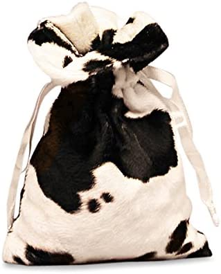 Quantity: 10 Cow Fur Fabric Bags Width: 5 Height: 8