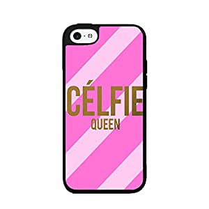 Pink Striped Celfie Queen Plastic Fashion Phone Case Back Cover iPhone 4 4s