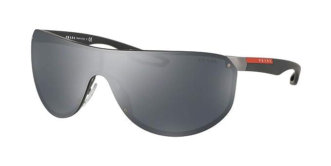 Prada Linea Rossa 0PS 61US Gafas de sol, Gunmetal Rubber, 40 ...