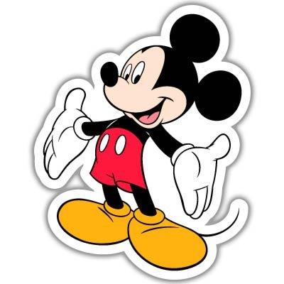 Mickey Mouse Disney Vynil Car Sticker Decal - -