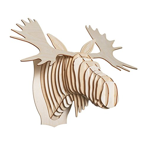 Cardboard Safari Baltic Birch Plywood Animal Taxidermy Moose Trophy Head, Fred X-Large (Head Trophy Moose)