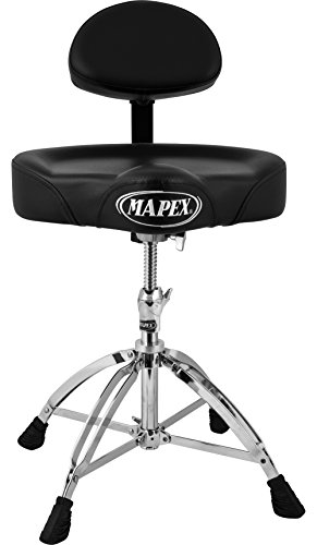MAPEX T775 Double Braced Throne with Height Adjustment and Back Rest, Saddle Seat by Mapex