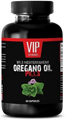Oregano essential oil – Wild Mediterranean Oregano Oil 1500mg – Digestive Ease – 1 Bottle 60 Capsules