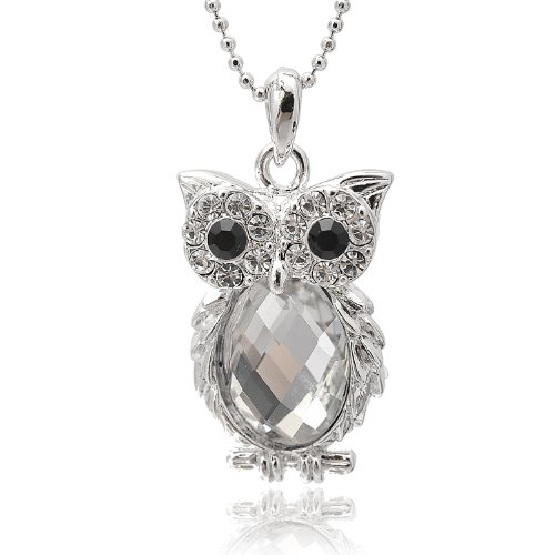 Crystal Curious Necklace Silver Plated