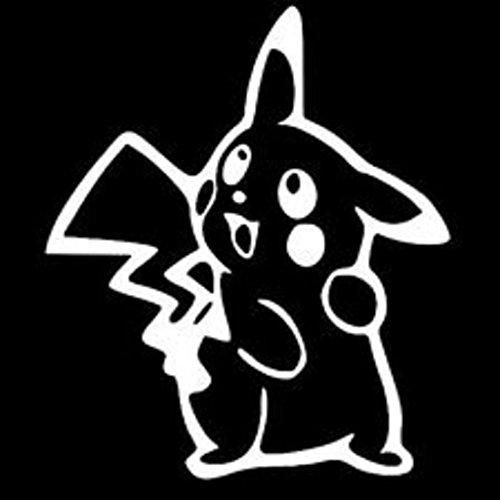 Pokemon Pikachu Peeking Decal Vinyl Sticker Cars Trucks Walls Laptop WHITE 5.5 In KCD420