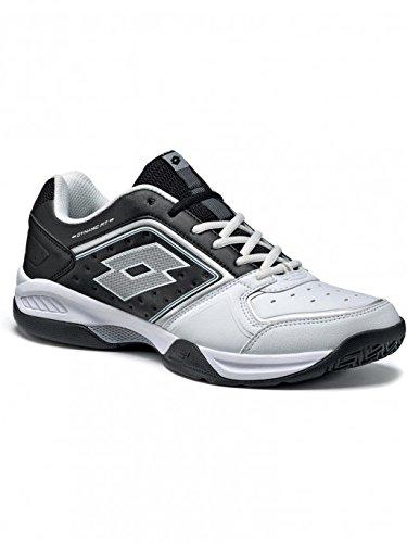 best loved b6d0f 510b5 Lotto Men s T-Tour IX 600 White and Black Tennis Shoes -8 UK