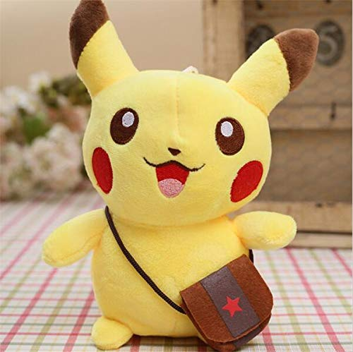 PAPWELL Pikachu Toy 8 inch Hot Toys Pokemon Soft Stuffed Plush Christmas Halloween Birthday Stuff Collectable Gift Movie Cartoon Big Collectible Cute Large Collectibles Gifts for Baby Kids -