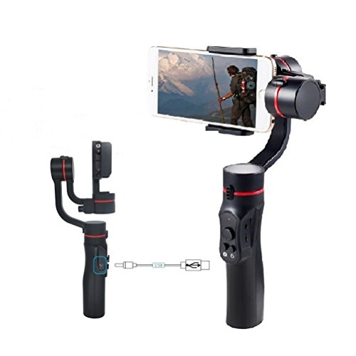 Npgool 360 Degree Rotation Gimbal Stabilizer Support Both Mobile Phones and Motion Camera
