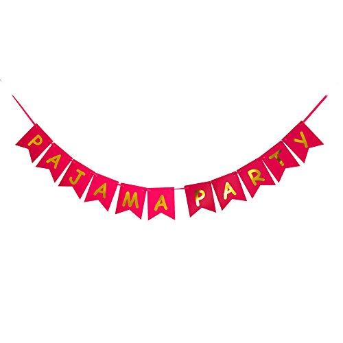 PAJAMA PARTY Banner, Pajama Carnival Party Sign, Pajama Theme -