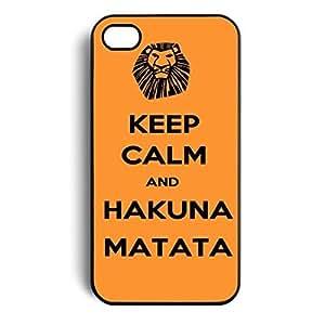 NANKY New Keep Calm and Hakuna Matata Hard Back Case Skin Cover for Apple Iphone 4 4g 4s