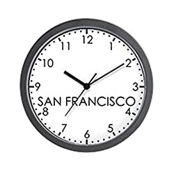 CafePress - SAN FRANCISCO Modern Newsroom - Unique Decorative 10 Wall Clock