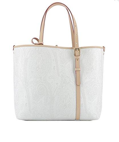 Etro Borsa Shopping Donna 1H3391723750 Pelle Bianco