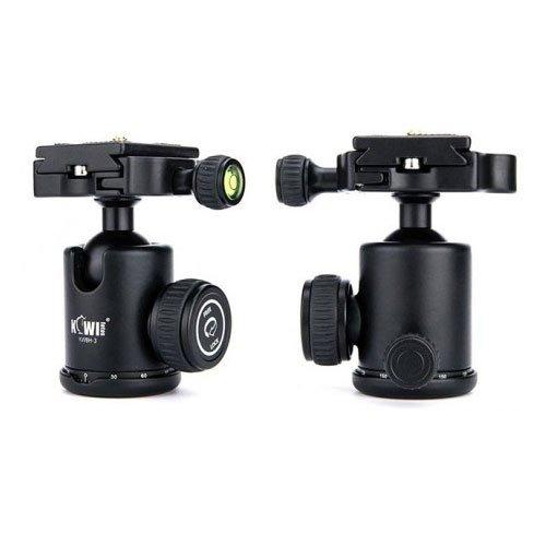 KIWI Photography Camera Tripod Ball Head 360° Panorama Scale camera Video KWBH-3 For Camera & camcorder