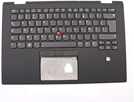 Laptop Palmrest/&Keyboard for Lenovo ThinkPad X1 Yoga 3rd Gen France FR 01LX791 01LX871 01LX911 01LX831 SM10P95290 Upper Case Cover with Backlit Scratch Used Black