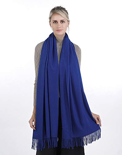 Niaiwei Women Scarf Plaid Blanket Scarves Wraps Shawl winter Cashemere scarf (Jacquard Navy - Jacquard Wrap