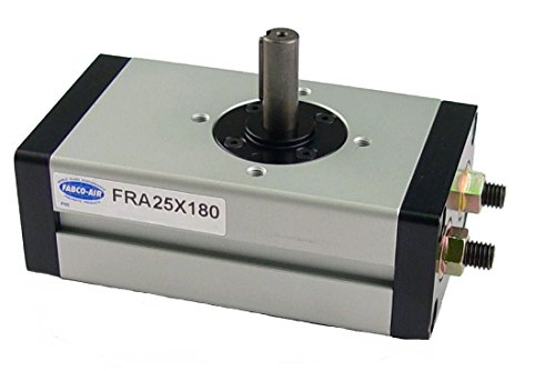 Fabco-Air FRA25X180 Pneumatic Rotary Actuator, 180 Degree Rotation Angle, 25 mm Bore