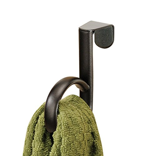 InterDesign Axis Over Cabinet Single Loop Kitchen Dish Towel Holder, Bronze durable modeling