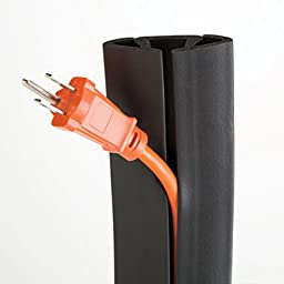 UT Wire UTW-CP1501-BK 15-Feet Cord Protector with 3-Channels, Black