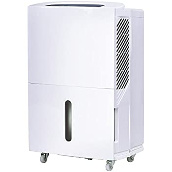 Costway Portable Energy Star Dehumidifier for Basement or Large Room Electric Dehumidifier Machine Safe Humidity Control Timer w/ Washable Air Filter (50-pint)