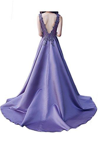 Prom Style Damen Hochwertig Satin Lang Festliche Abendkleider Cocktailkleider Ballkleider