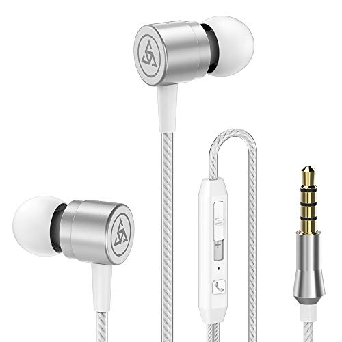 Klacr Professional Original 3.5MM Metal in-Ear Wired Earphones HiFi Stereo Bass Earphone Headphones with Microphone for Phone Computer Headset