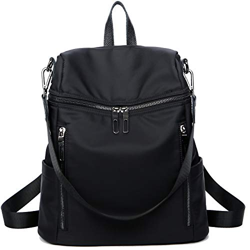 Women black Fashion Backpack Backpack Girls Purse Bag Travel LEADO 2 School Daypack for Shoulder Lady Nylon qIUwSWxZ