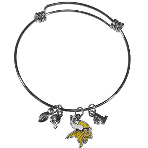 Siskiyou NFL Minnesota Vikings Charm Bangle Bracelet ()