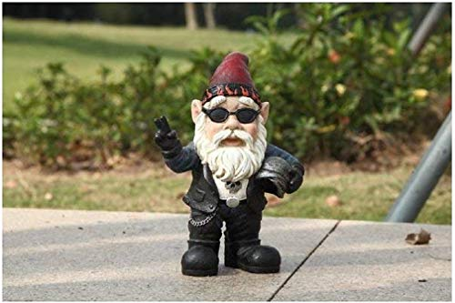 Gnome Biker With Sunglasses/Helmet