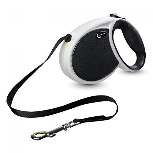 Esky 犬の伸縮リード(散歩ひも) 4M, 20KG[ブラック]Retractable dog leash