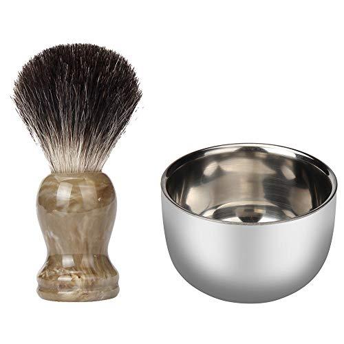 Hli-SHJHsmu Shave Mug Soap Bowl Fashion Stainless Steel Metal Men's Shaving Mug Bowl Cup for Shave Brush from Hli-SHJHsmu