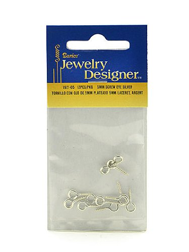 Jewelry Designer 1921-05 Screweye Silver 5Mm 12Pc